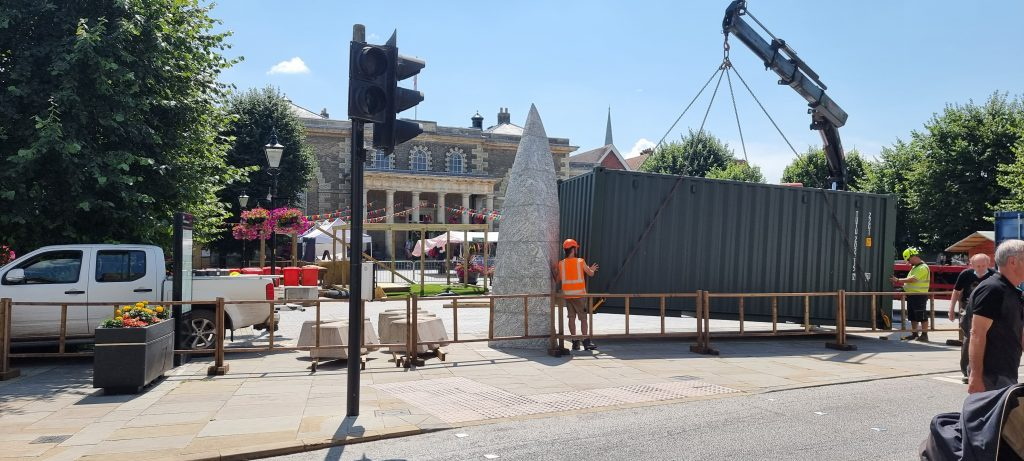 Fayre on the Square Salisbury 2021 being built