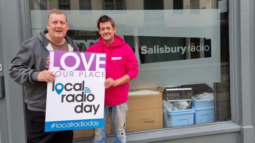 Local  Radio Day 2021 Dom Chambers and David Harber - Salisbury Radio
